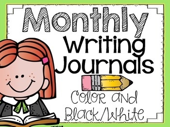 Monthly Writing Journals