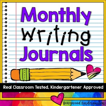 Monthly Writing Journals!  18 writing paper options, 3 cov