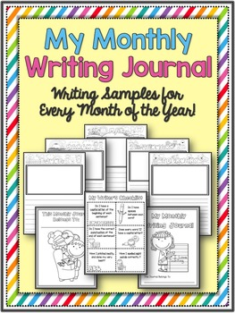 Monthly Writing Journals ~ A Writing Sample For Every Month of The Year!