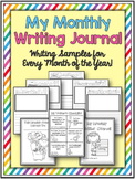 Monthly Writing Journals ~ A Writing Sample For Every Mont