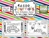 Monthly Writing Journals-WHOLE Year GROWING Bundle