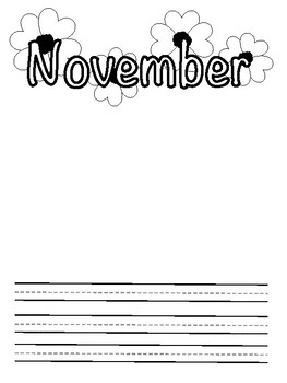 Monthly Writing Pages