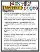 Monthly Writing Pages  {Black & White and Color}