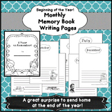 Monthly Writing Paper Great for Memory Books and Journaling 1st and 2nd grade