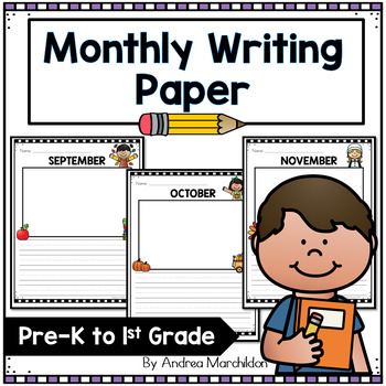 Monthly Writing Paper 1st Grade