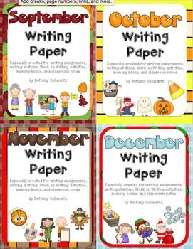 Monthly Writing Paper Bundle
