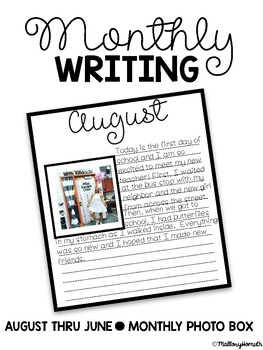 Monthly Writing Paper + Photo Square