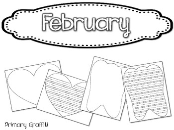 Monthly Writing Paper {Primary}