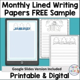 Monthly Writing Paper Sample FREEBIE