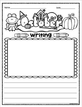 Monthly Writing Paper Sheets Pages Primary Journal Centers Memory Books