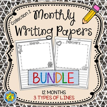 Monthly Writing Papers {Collection 2} - Journals, Writing Centers