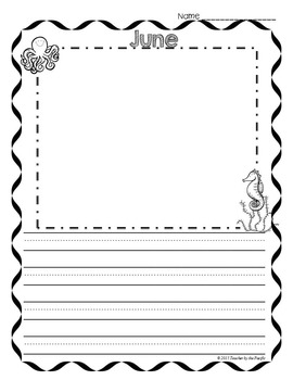 Monthly Writing Papers {Collection 2} PRIMARY Lines - Journals - Writing Centers