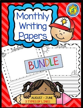 Monthly Writing Papers #1 - For Journals, Writing Centers, and Memory Books