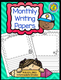 Monthly Writing Papers #1-RULED Lines -- Journals, Writing Centers, Memory Books