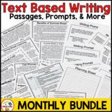 FSA Writing BUNDLE- Monthly Passages, Prompts, Rubrics