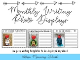 Monthly Writing Photo Displays