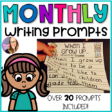Monthly Writing Prompts Flip Books