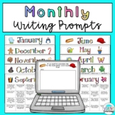 Monthly Writing Prompt Bundle: Printable and Digital Googl