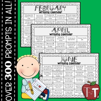 Monthly Writing Prompt Calendars