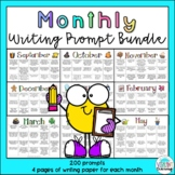 Monthly Writing Prompt Calendars and Writing Paper