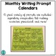 Monthly Writing Prompt Calendars (no prep prompts for your writing center)