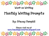 Monthly Writing Prompt Cards
