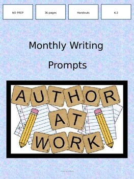 Monthly Writing Prompt Words