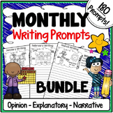 Monthly Themed Writing Prompts {Months of the Year Illustrated Prompts}