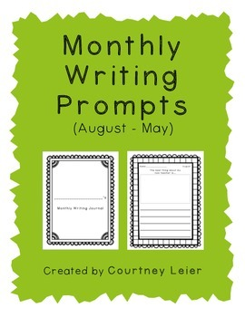 Monthly Writing Prompts (August - May)