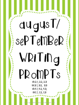 August/September writing prompts