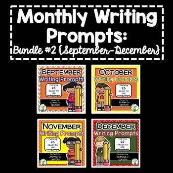 Monthly Writing Prompts BUNDLE #2 {September-December}
