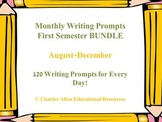 Monthly Writing Prompts BUNDLE! Aug-Dec