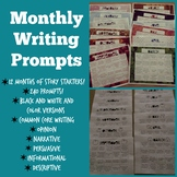 Monthly Writing Prompts Calendar for the Whole Year Writin