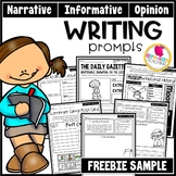 Monthly Writing Prompts | Narrative, Informative, & Opinion | Distance Learning