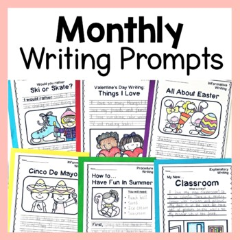 Monthly Writing Prompts GROWING BUNDLE
