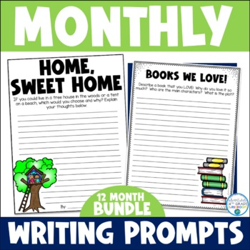 Monthly Writing Prompts Bundle- ENTIRE YEAR