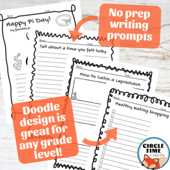 Year of NO PREP Writing Prompts, Daily Writing Bundle with Prompt Calendars