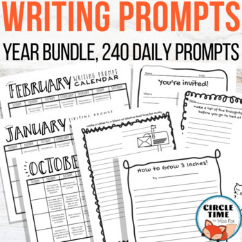 240 Unique {NO PREP} Writing Prompt Worksheets, Fun Daily Questions!