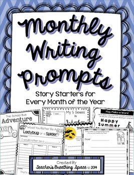 Monthly Writing Prompts / Story Starters for the Whole Year