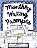 Monthly Writing Prompts / Story Starters for the Whole Year   Distance Learning