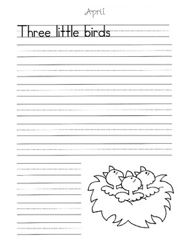 Monthly Writing Prompts / Writing Templates / Great for 1st, 2nd & 3rd Grades