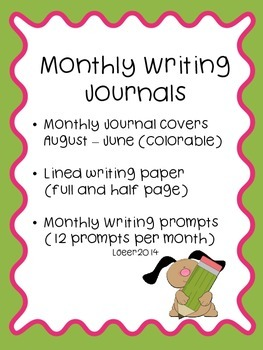 Monthly Writing Prompts and Journal