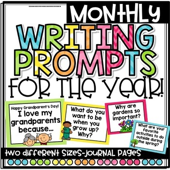 Writing Prompts for the Entire Year!!!