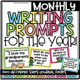 Monthly Writing Prompts BUNDLE for the Entire Year!