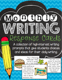 Monthly Writing Response Cards Pack