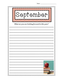 """Start The Year """"Write"""" - Monthly Writing Samples with Prompts (Whole Year)"""