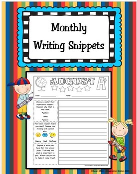 Monthly Writing Snippets