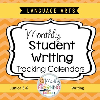 2016/2017 Monthly Writing Student Tracking Calendars