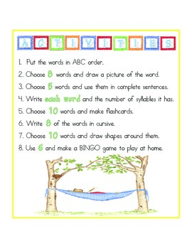 Monthly Writing Activity Sets