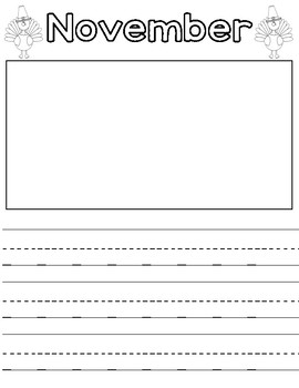Monthly Writing Template